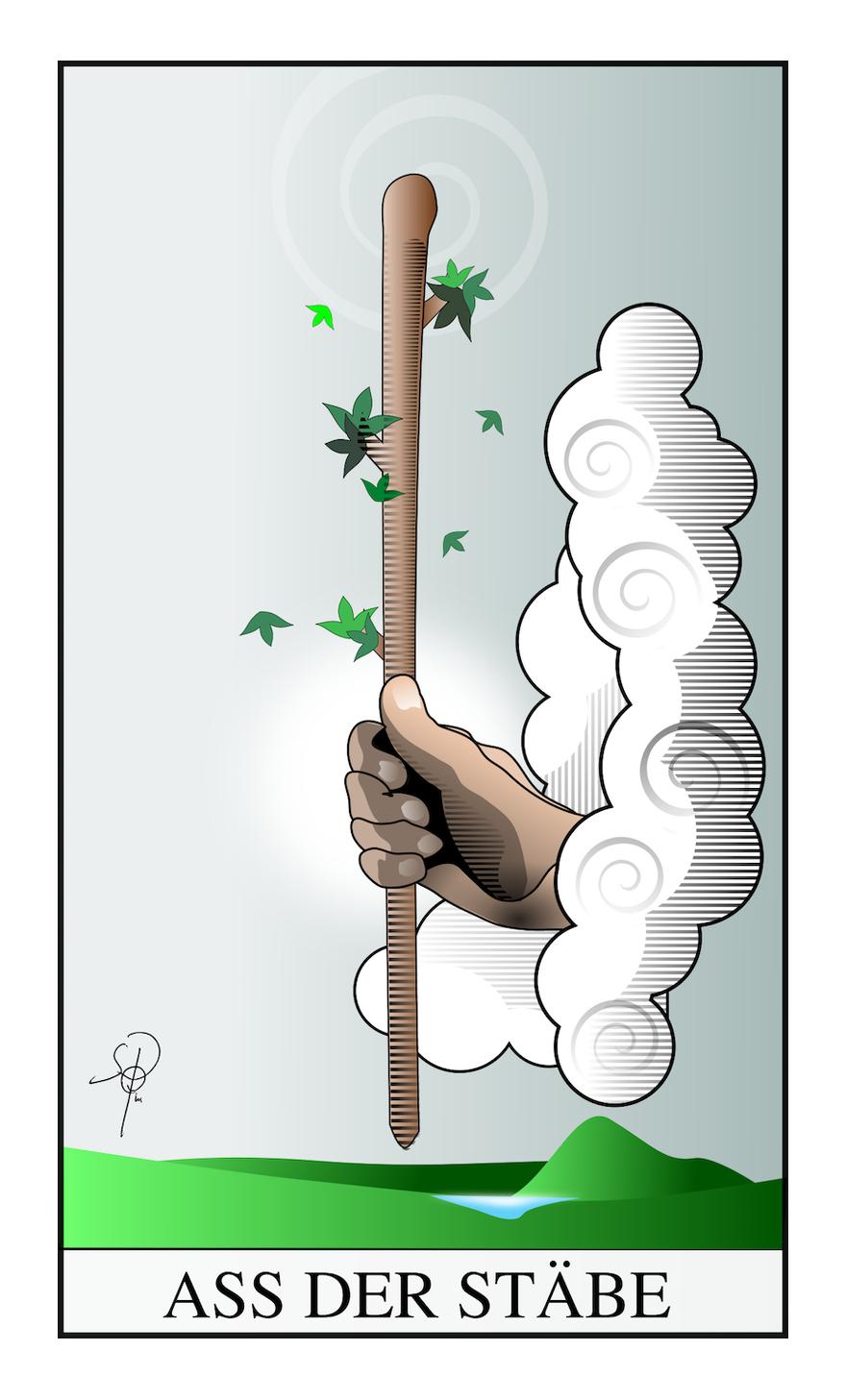 Tarot Ass der Stäbe