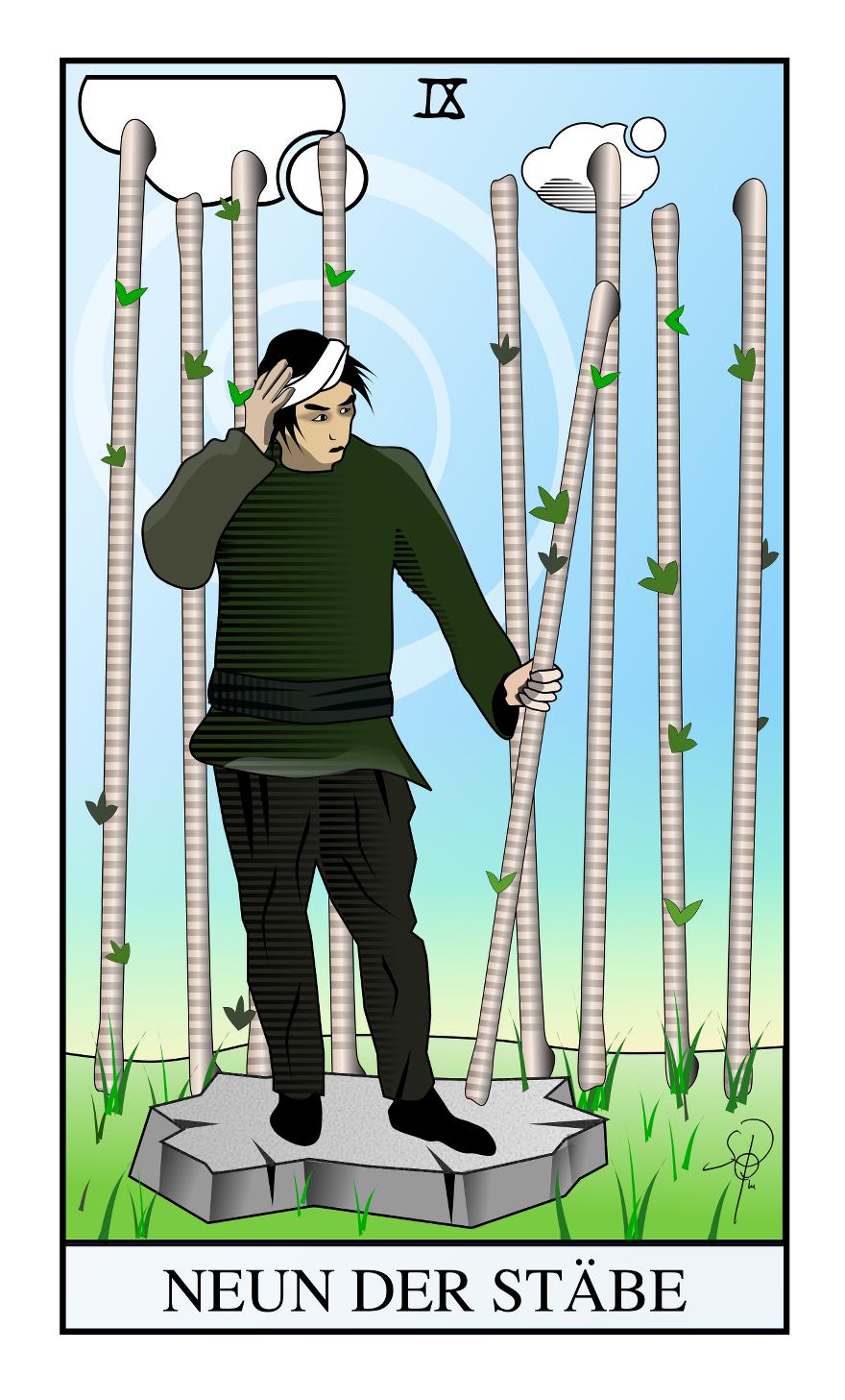 Tarot 9 der Stäbe