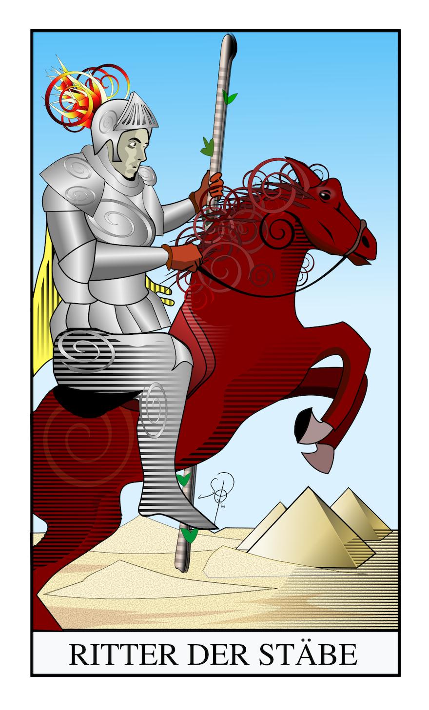 Tarot Ritter der Stäbe