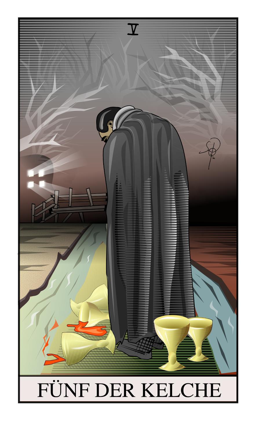 Tarot Fünf der Kelche