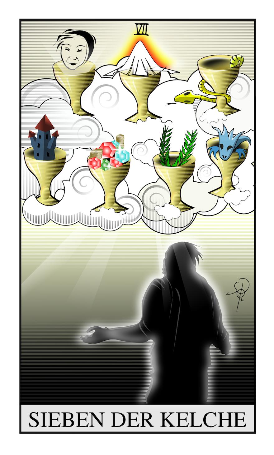 Sieben der Kelche