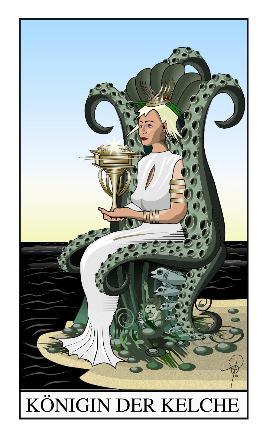 Tarot Königin der Kelche