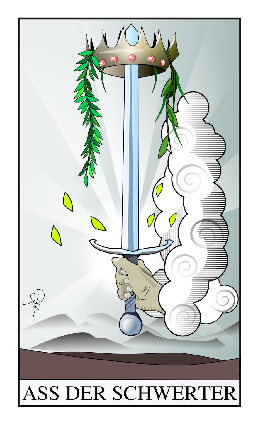 Tarot Ass der Schwerter
