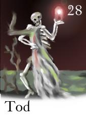 Zigeunerkarte Tod