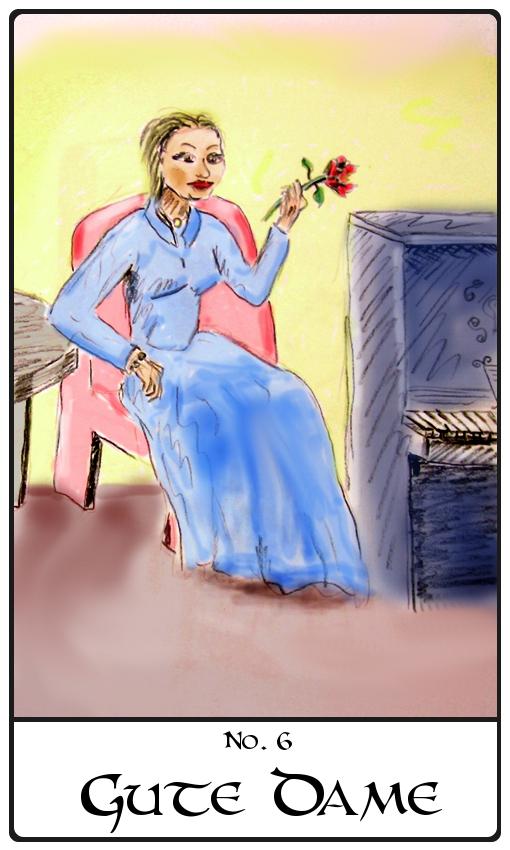Kipperkarte Gute Dame
