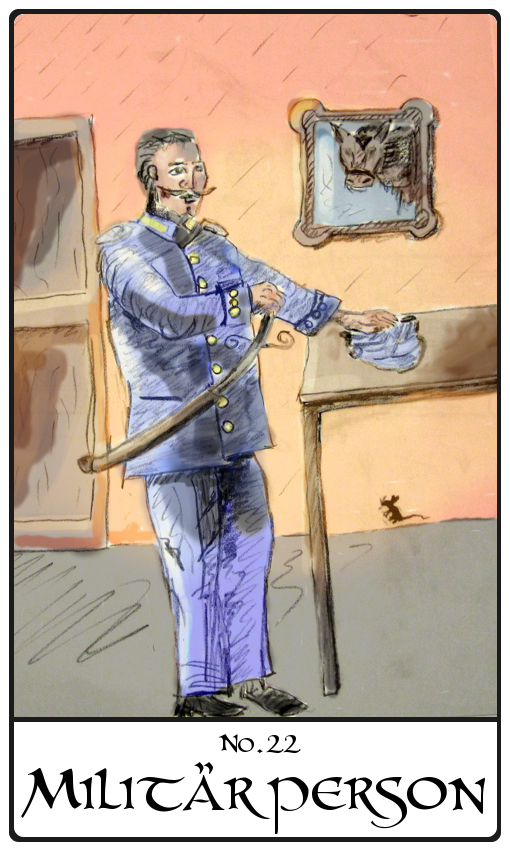 Kipperkarte Militärperson