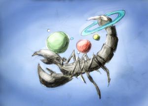 Planeten im Skorpion