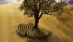 Labyrinth mit Lebensbaum