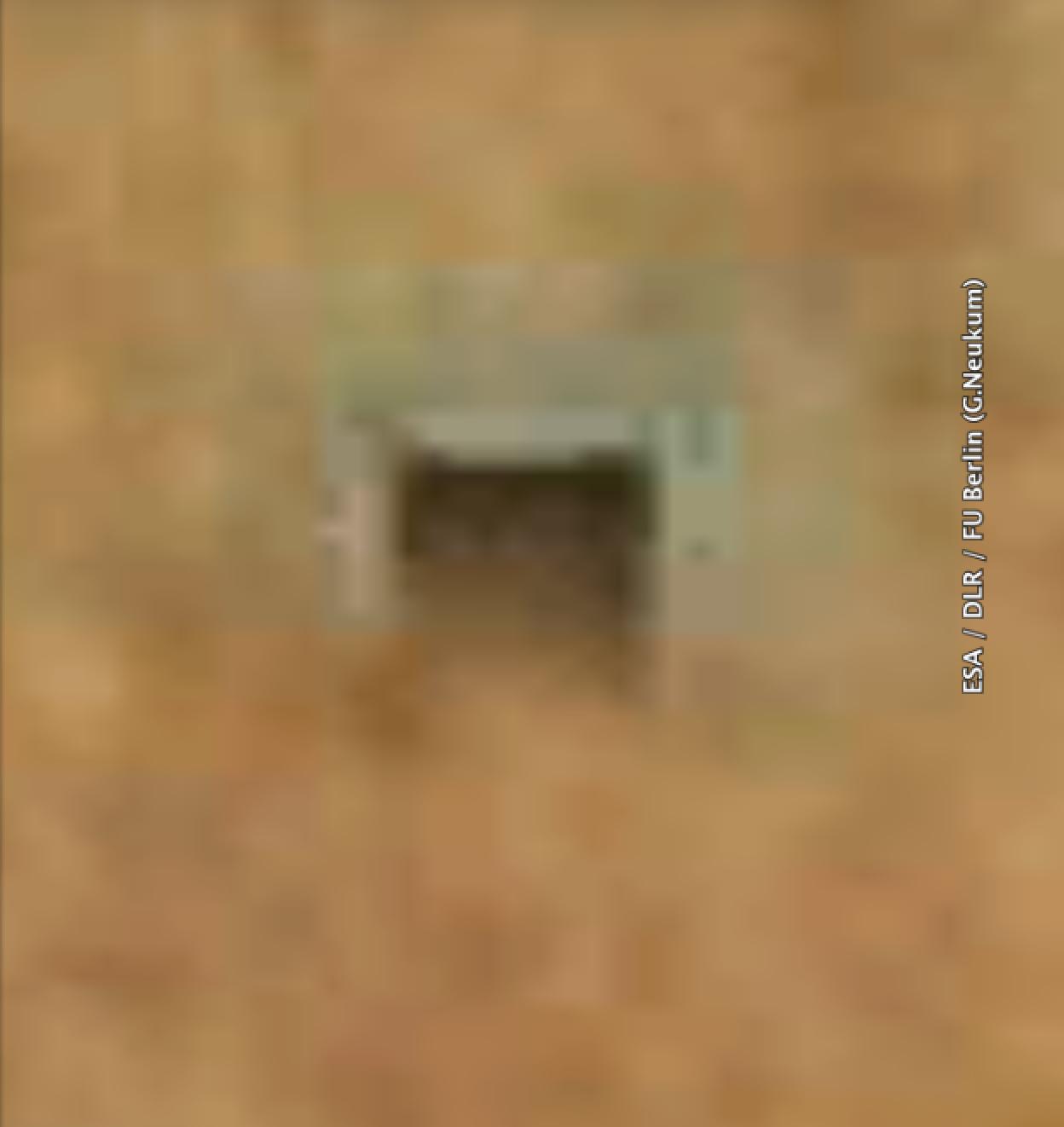 Stolleneingang auf dem Mars