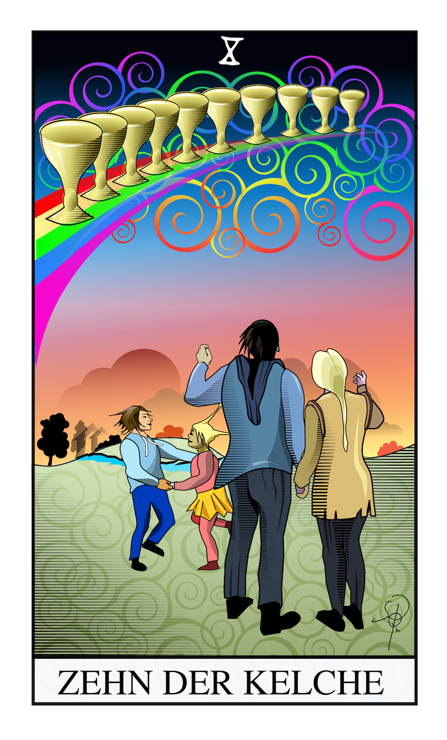 Tarot zehn der Kelche