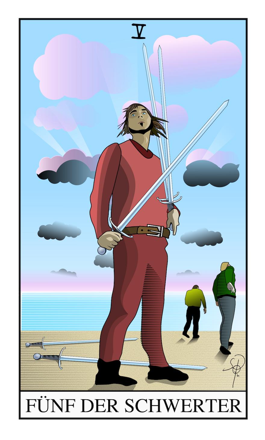 Tarot Fünf der Schwerter