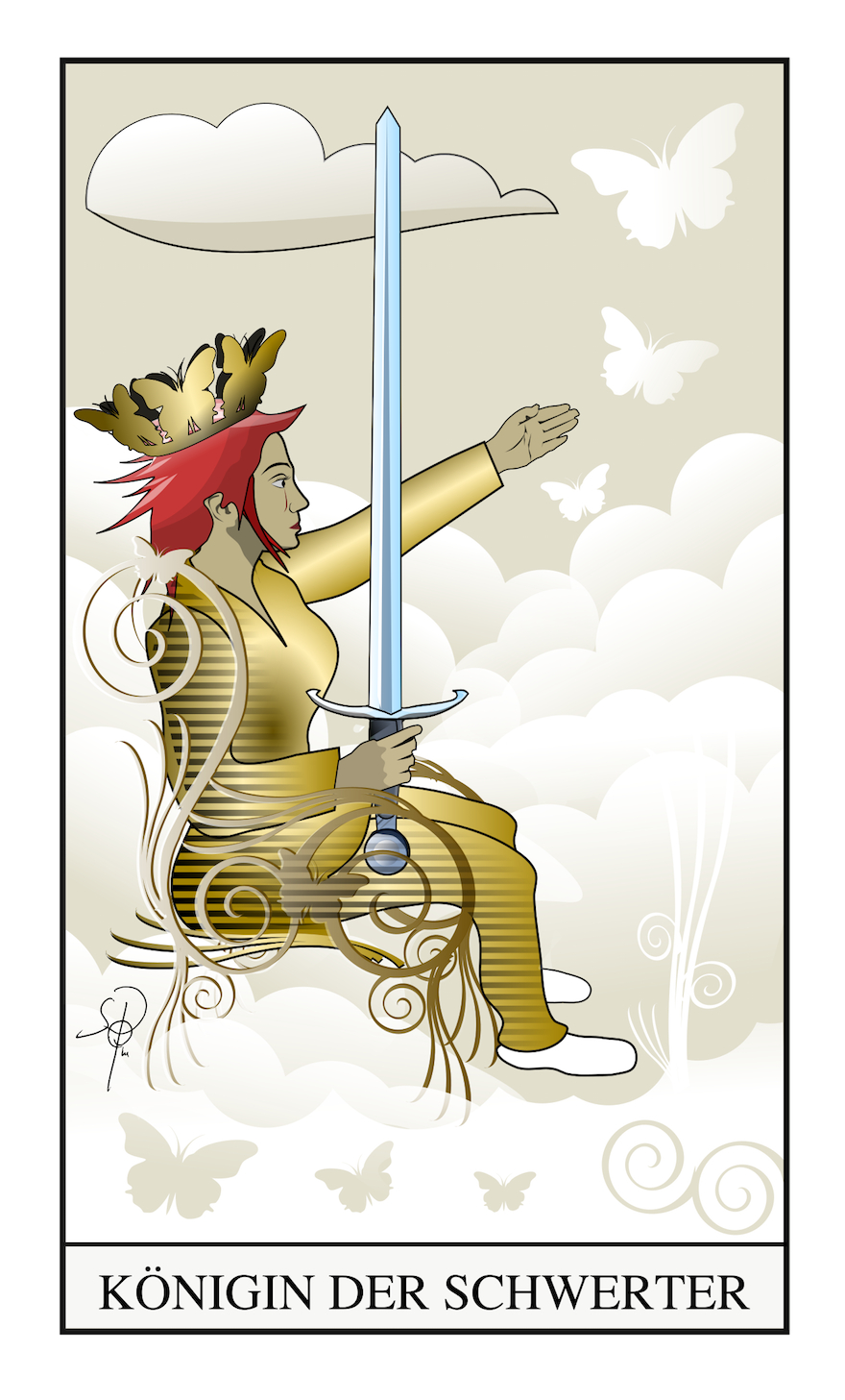 Tarot Königin der Schwerter