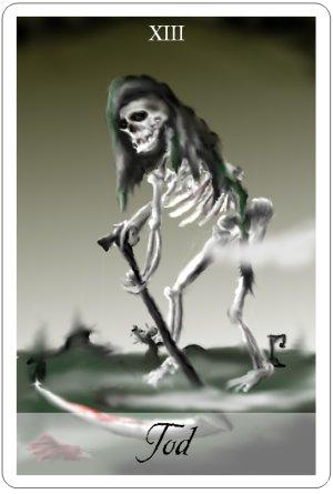 Der Tod in den Wahrsagekarten
