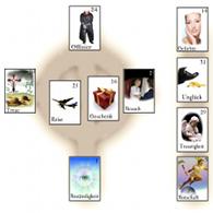 Zigeunerkarten keltisches Kreuz