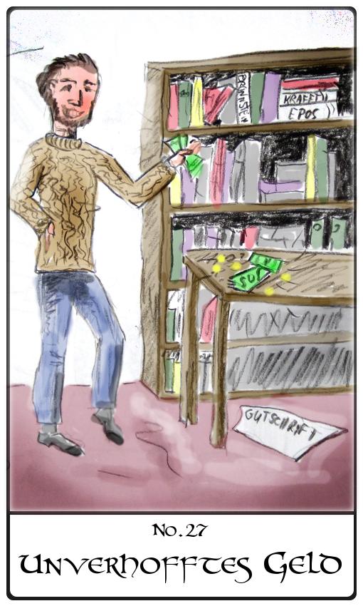 Kipperkarte Unverhofftes Geld