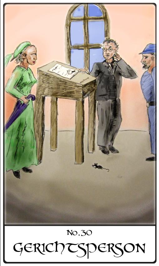 Kipperkarte Gerichtsperson