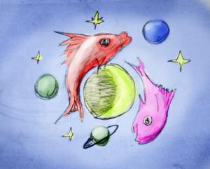 Planeten in den Fischen