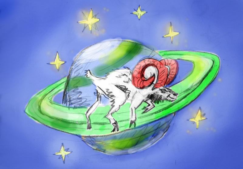 Planeten im Widder