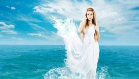 Wasser Kleid