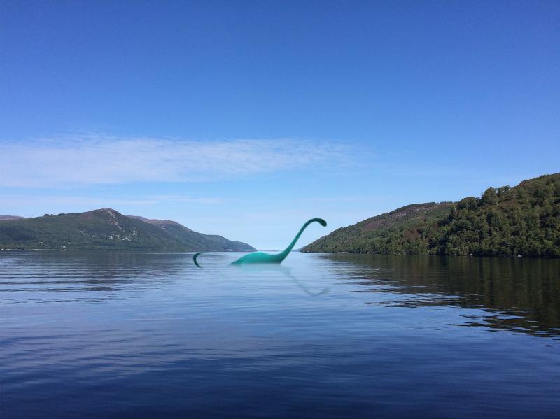Loch Ness mit Nessy